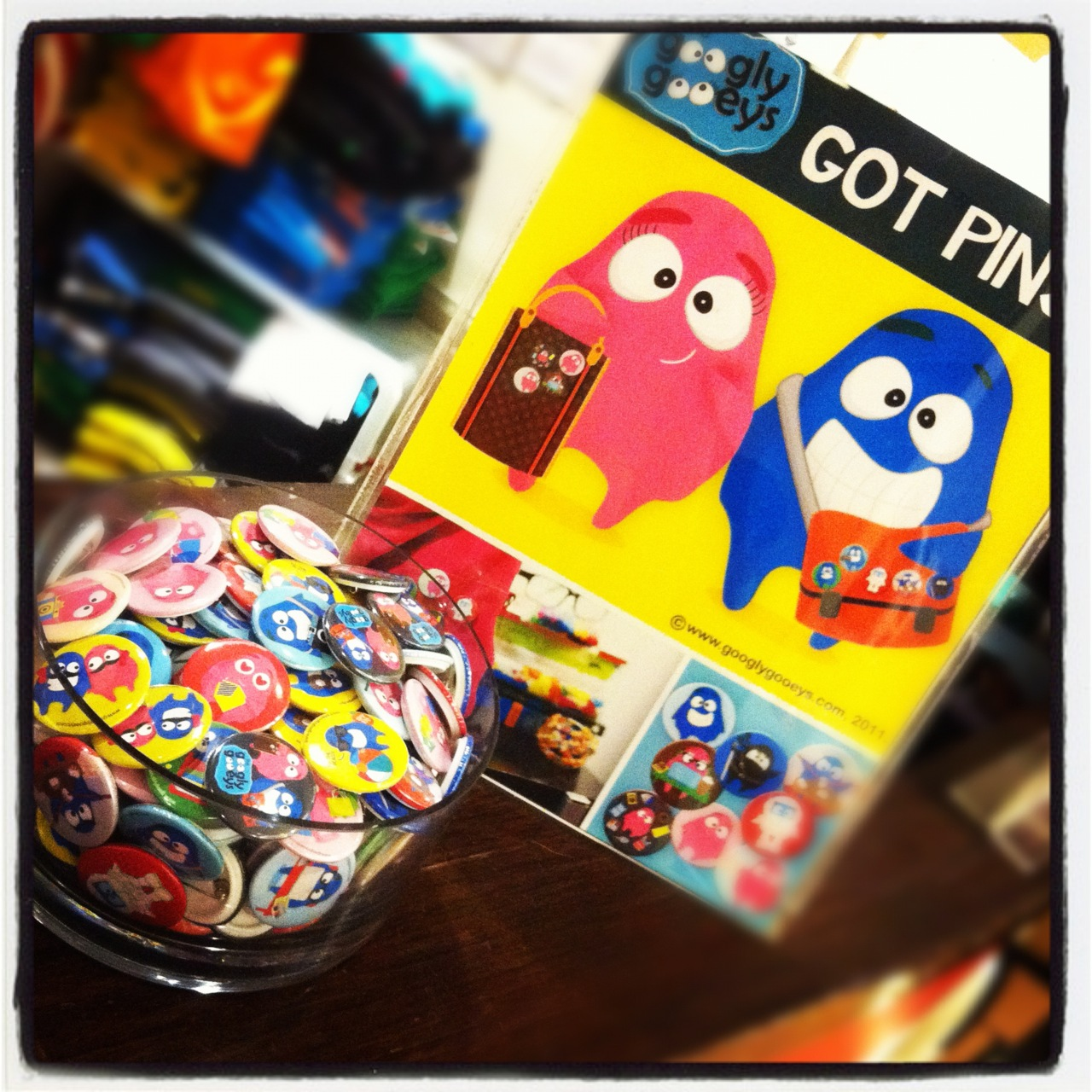 Get your Googly Gooey pins this weekend! :)
