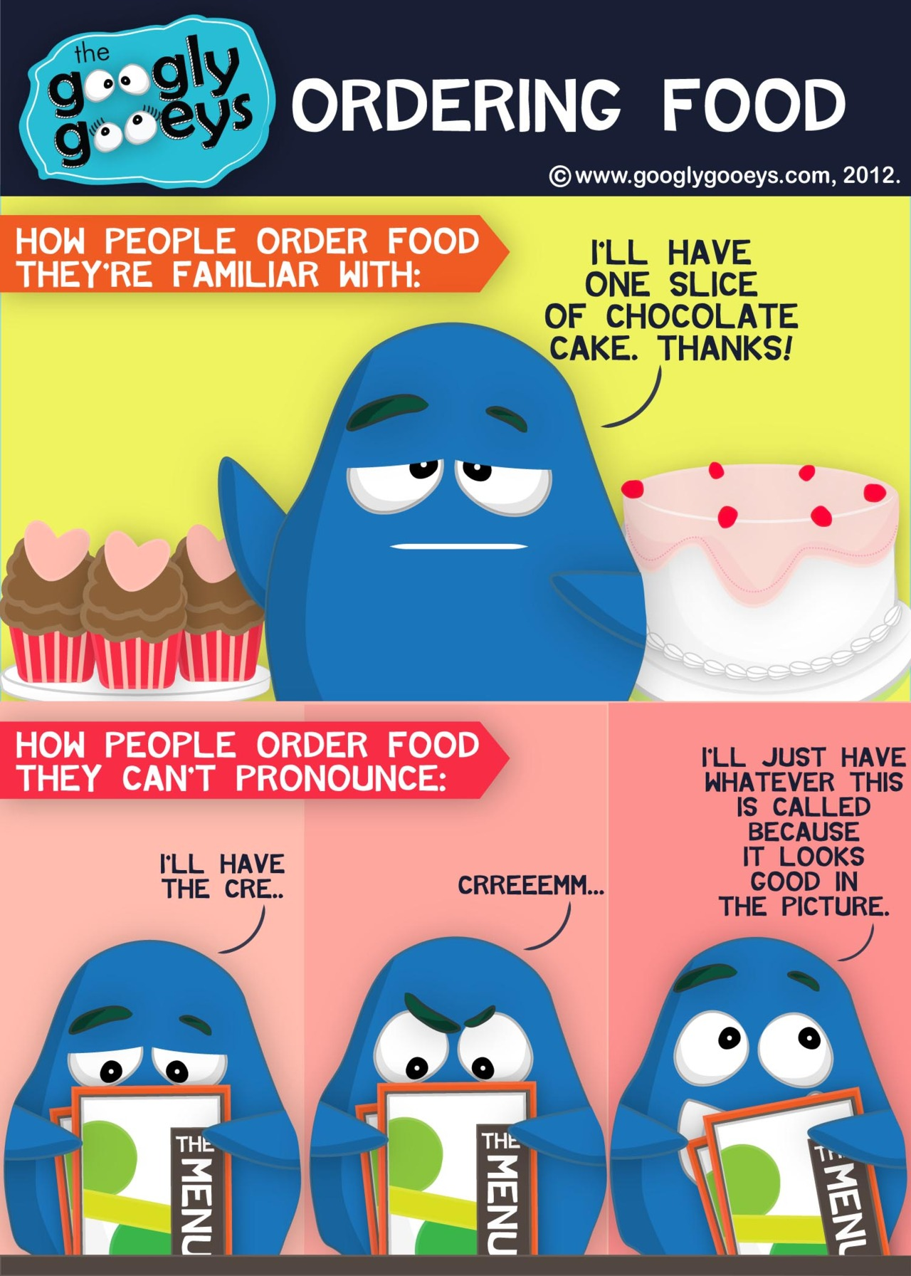 How People Order Food They Can't Pronounce Click here for MORE FOOD Follow the Googly Gooeys o