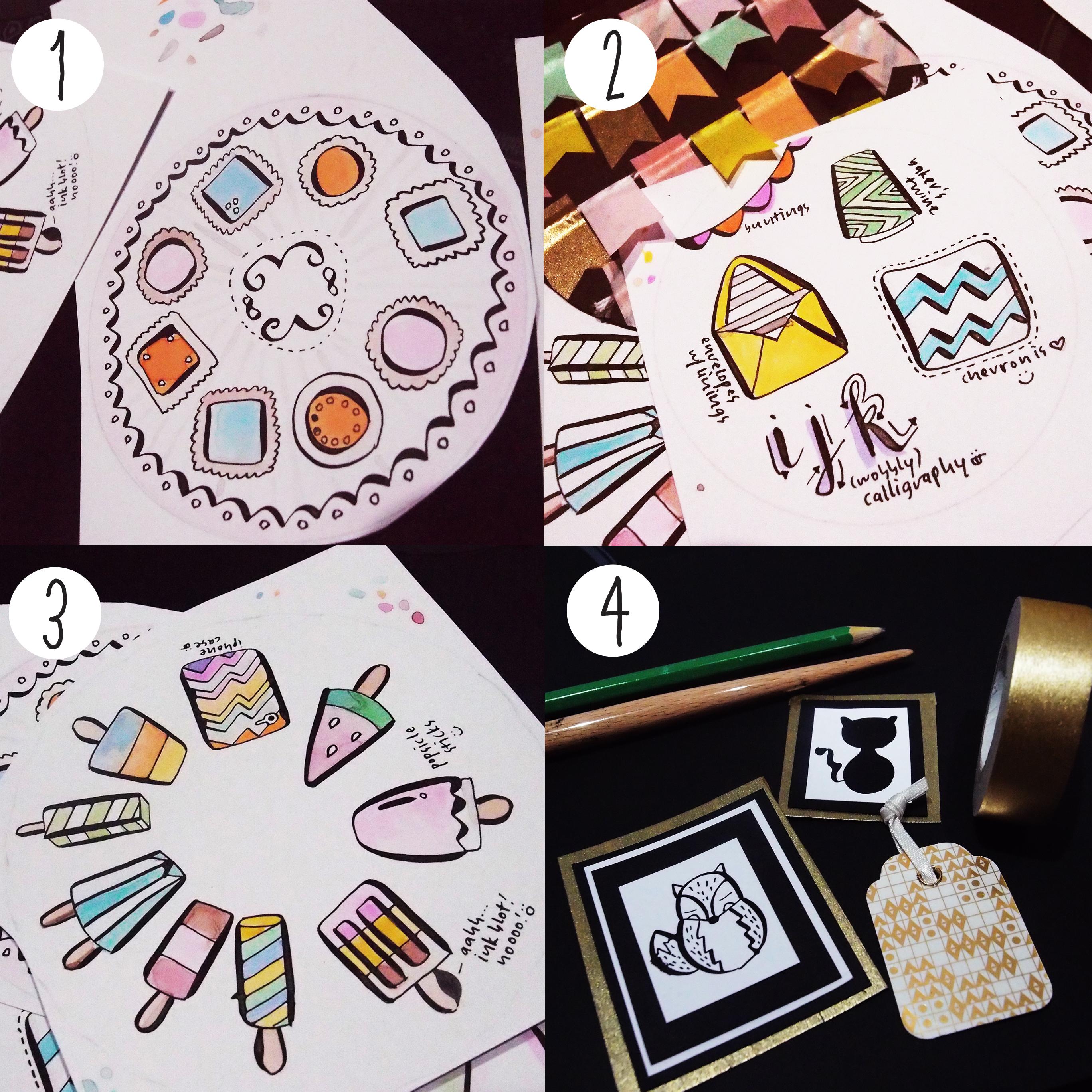 Inky Watercolor Doodles: This Week on Instagram