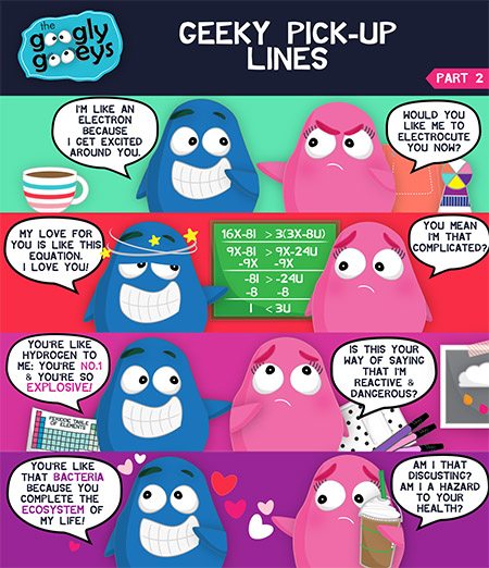 Googly Gooeys Geeky Pick up Lines 5x72