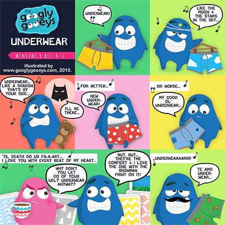 I Swear Underwear: The Minions x All-4-1 Mashup - Googly Gooeys