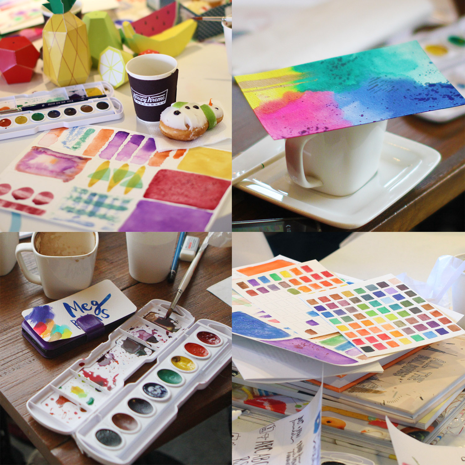 Watercolor & Lettering Workshops: A Photo Diary
