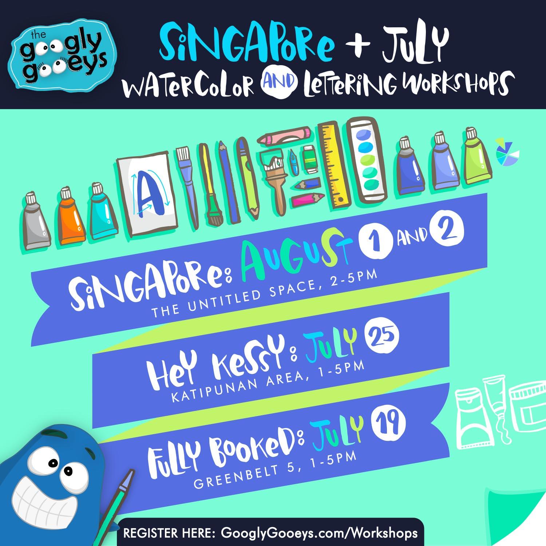 Singapore Watercolor Lettering Workshops