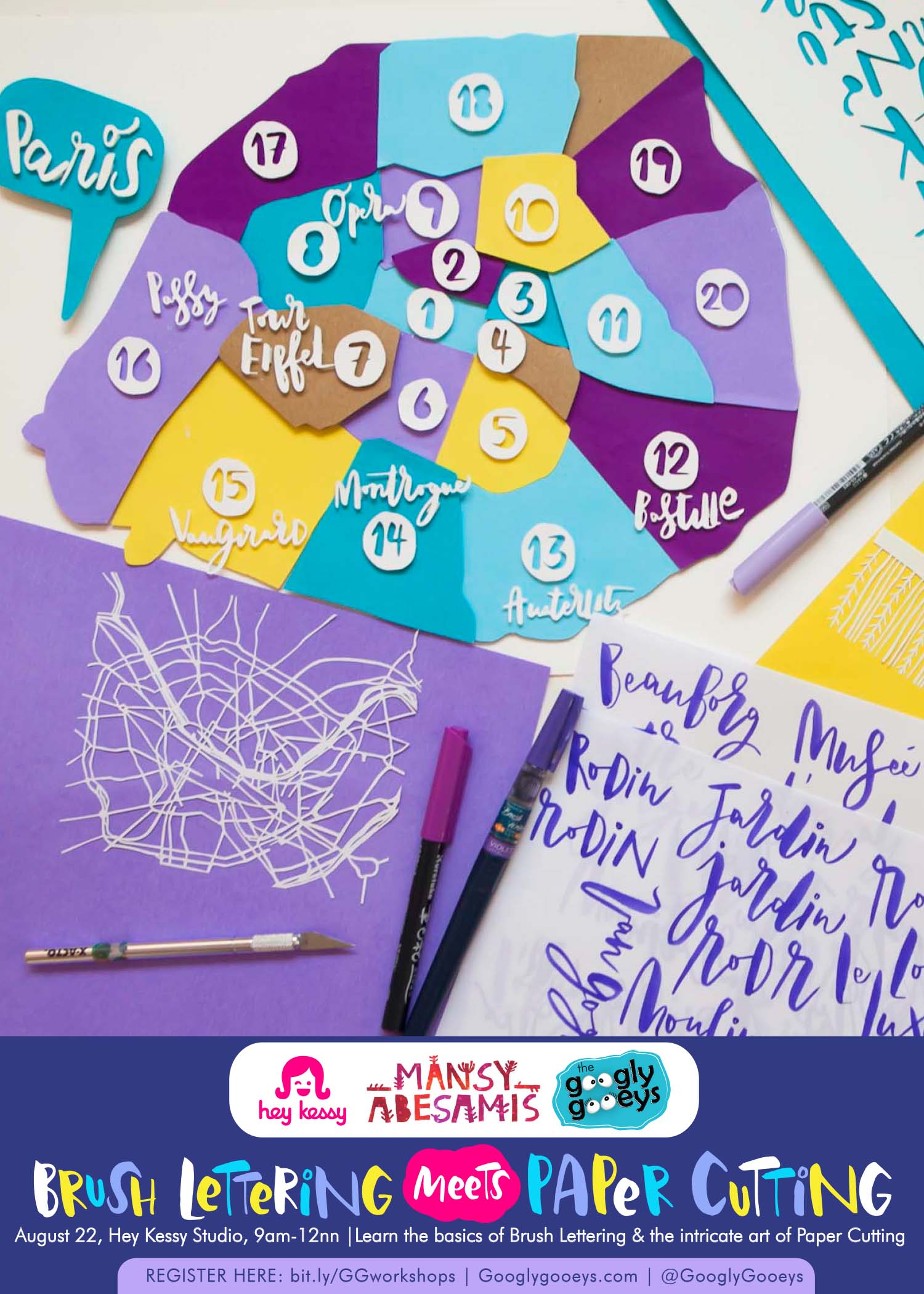 New Workshop: Brush Lettering Meets Paper Cutting
