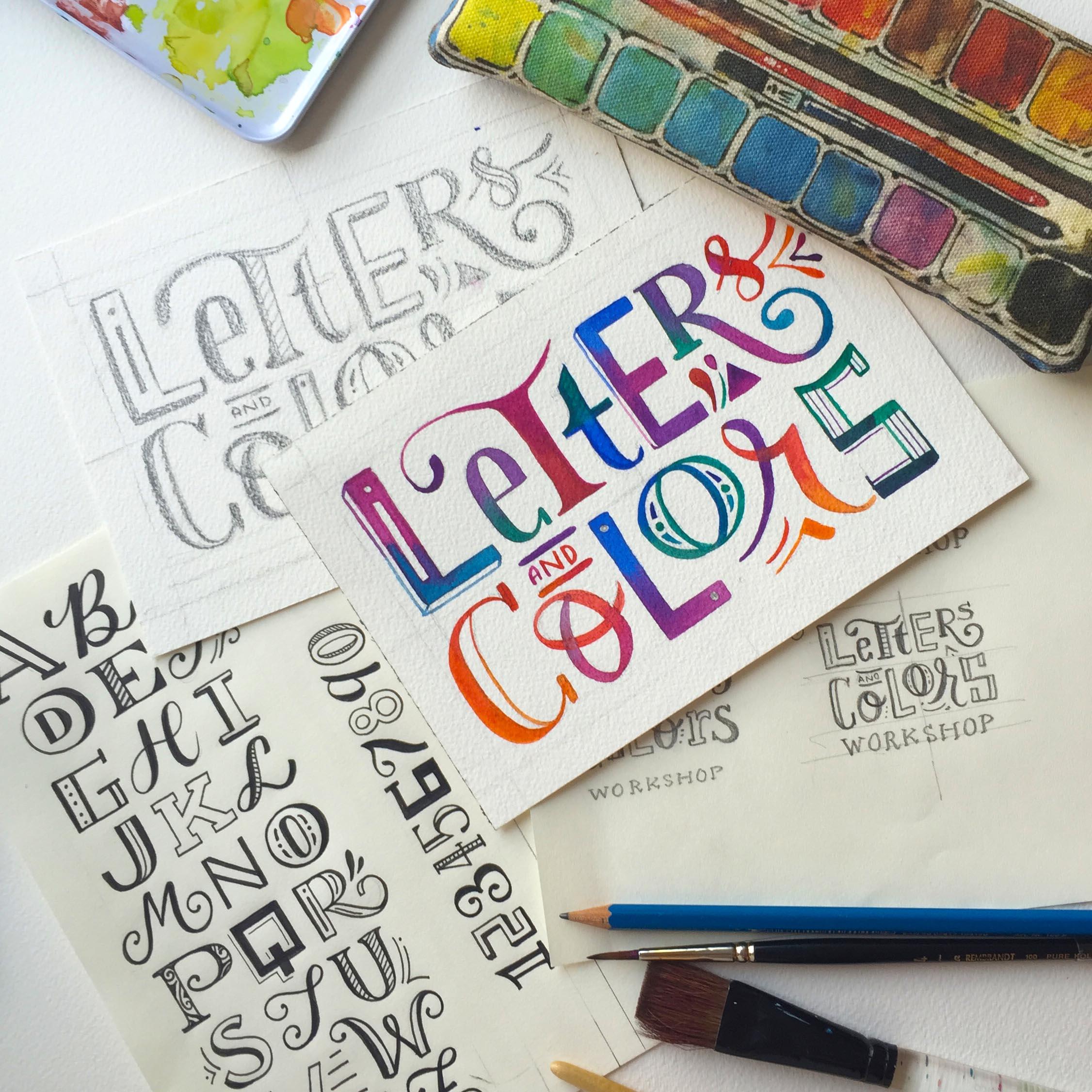 Letters & Colors Workshop & Basic Watercolor Workshop
