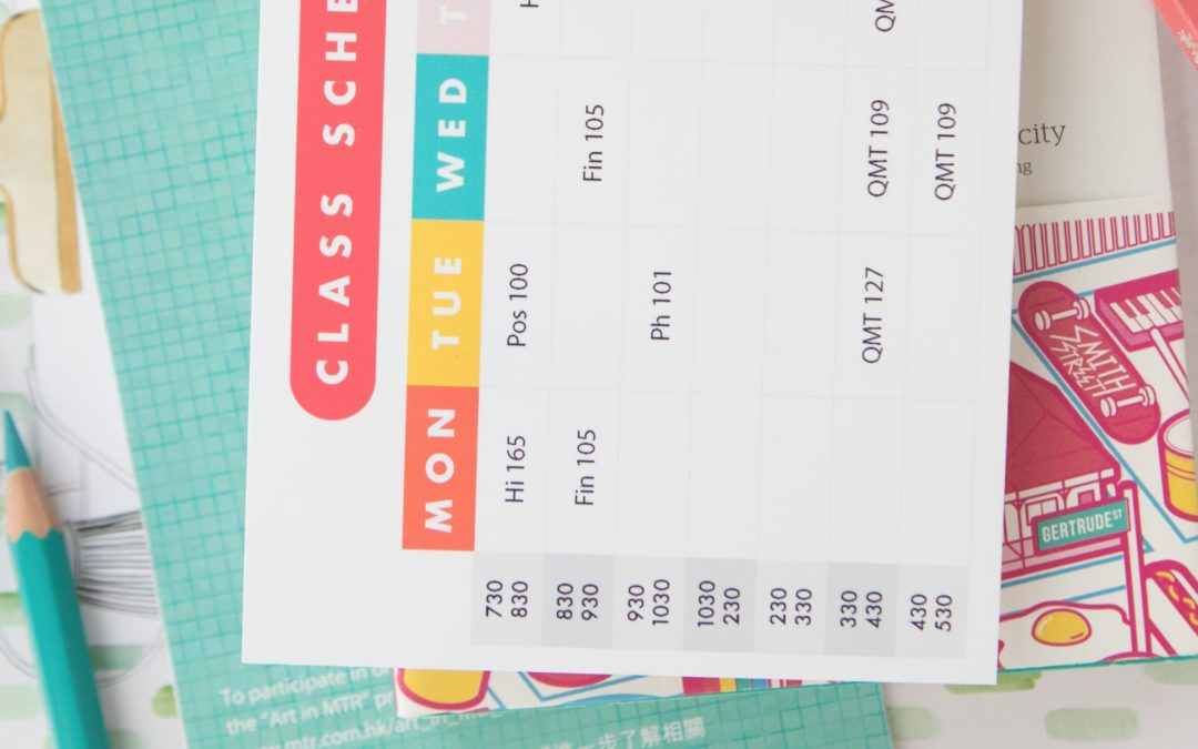 Free Printable: Class Schedule and Recipe Cards