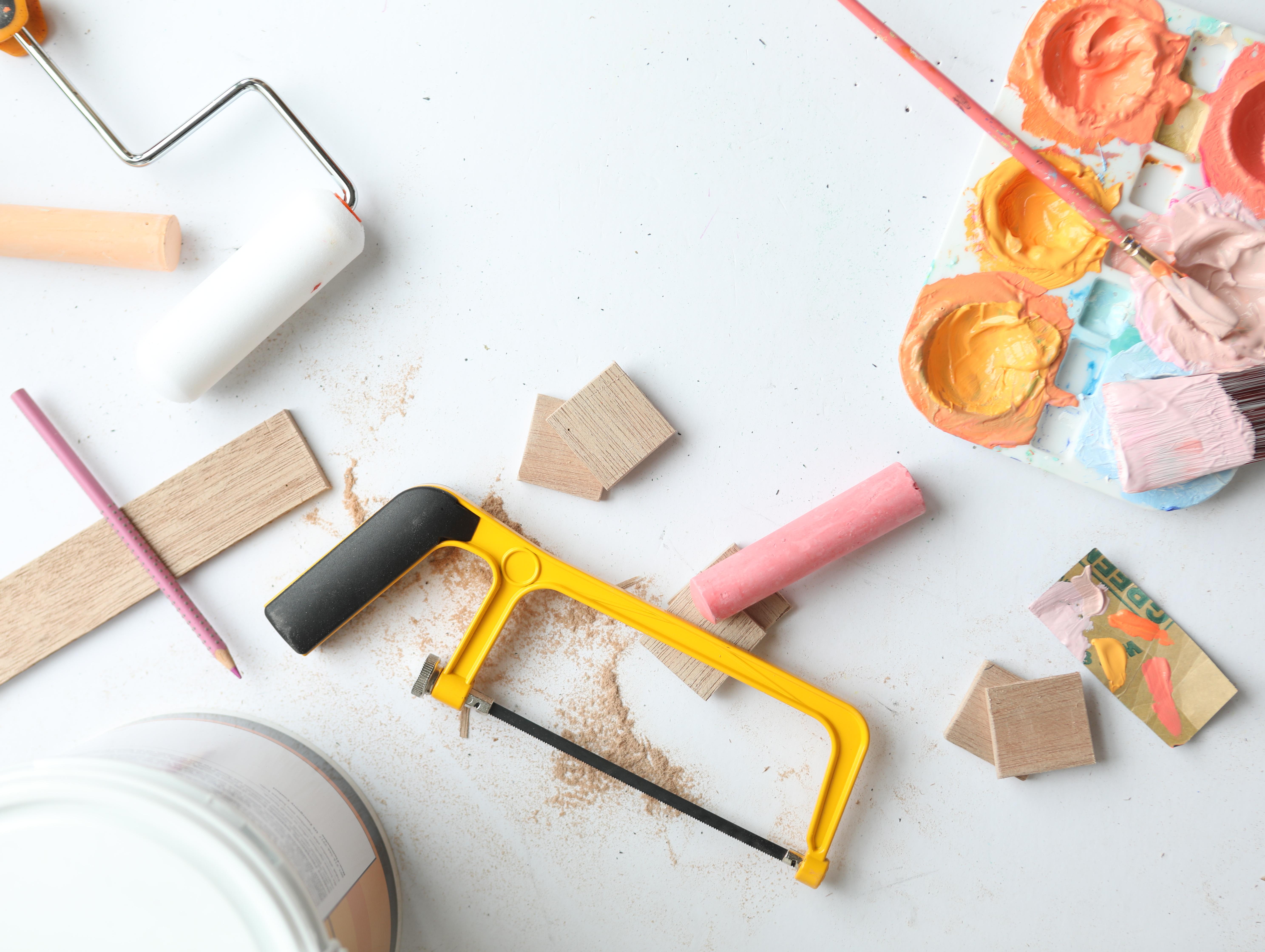 DIY Chalkboard and Craft Organizer Cut3