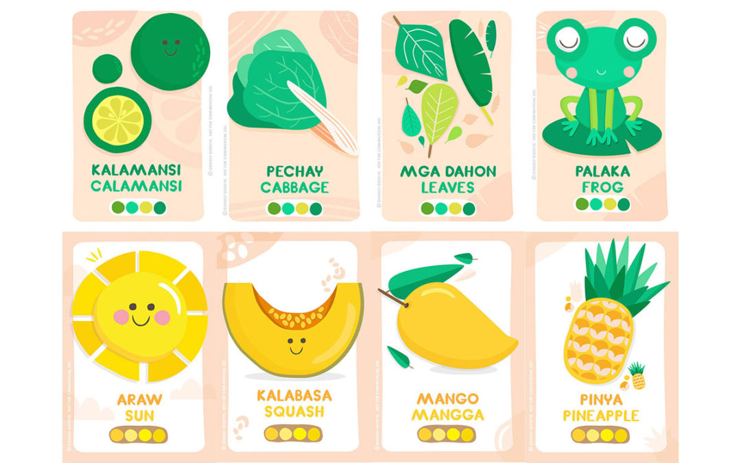 Free Printable: Filipino/Cebuano-English Flash Cards + Stickers