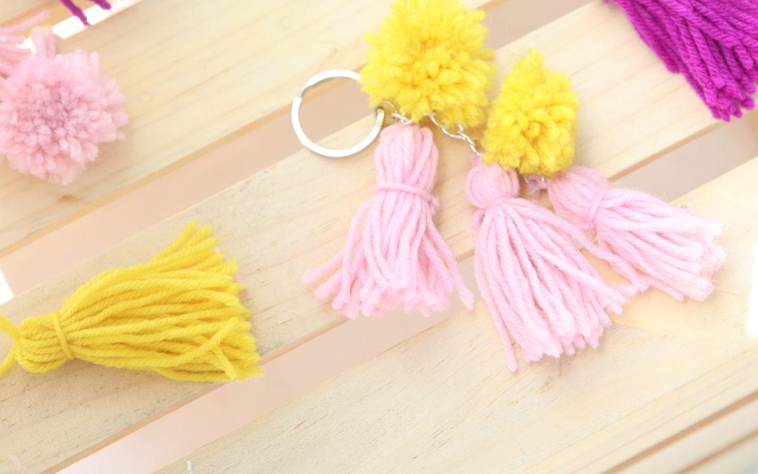 DIY Pompom and Tassel Keychain thumb