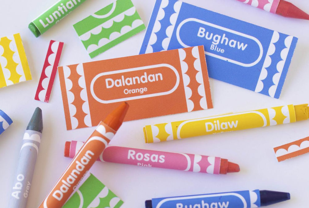 Free Printable: Crayon Sleeve Filipino Colors