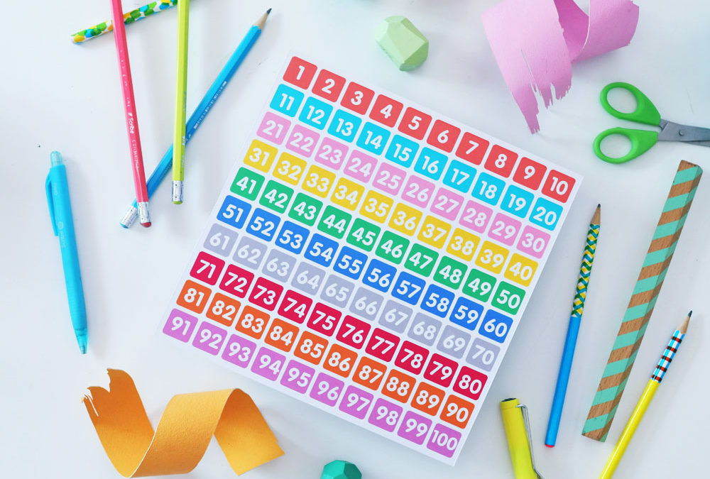 Free Printable: Numbers 1 to 100