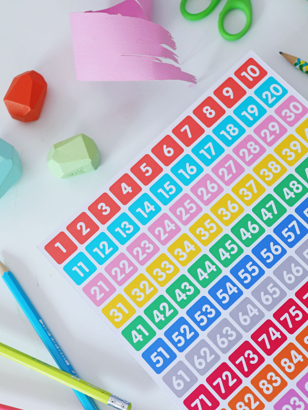 Googly Gooeys Printable Numbers