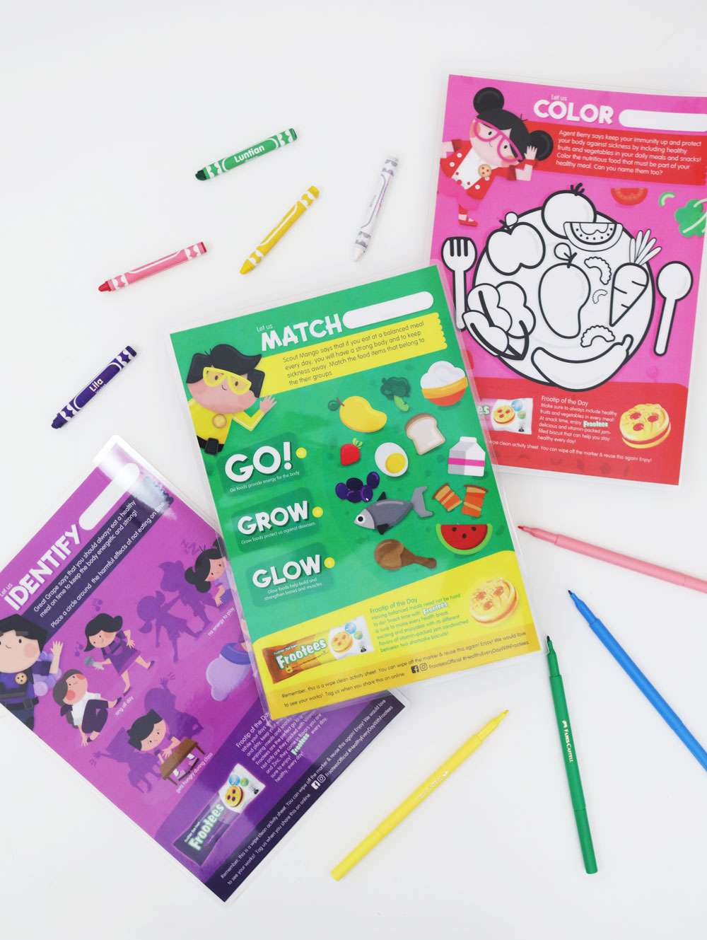 Googly Gooeys Rebisco Frootees Activity and Coloring Worksheets
