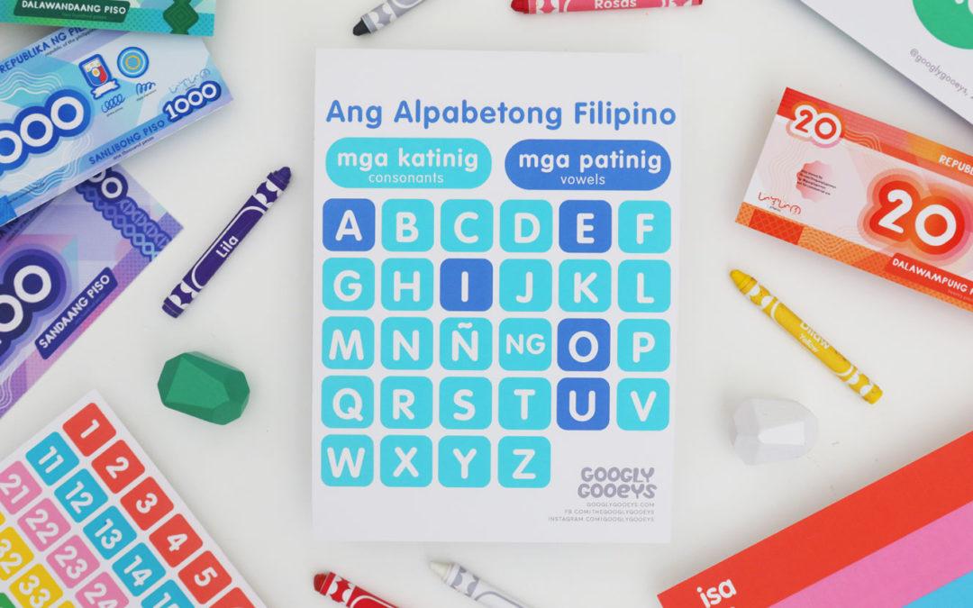 Free Printable: Filipino Alphabet – Vowels and Consonants (Patinig at Katinig)