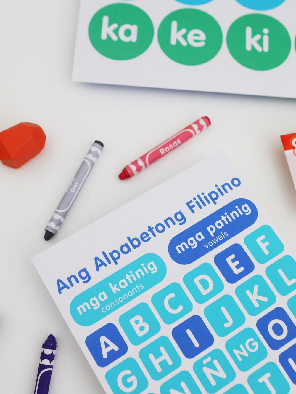 Googly Gooeys Printable Filipino Alphabet Vowels Consonants Katinig Patinig